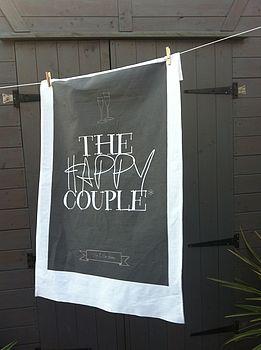 Personalised Wedding Tea Towel Favours