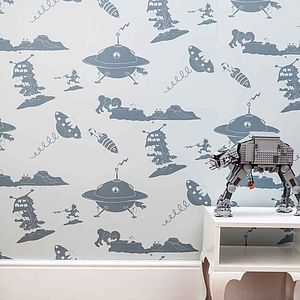'The Final Frontier' Alien Wallpaper - children's room