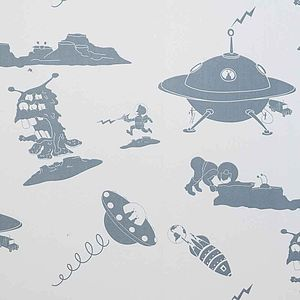 Sample 'The Final Frontier' Alien Wallpaper - baby's room