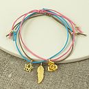 Gold Charm Friendship Bracelet