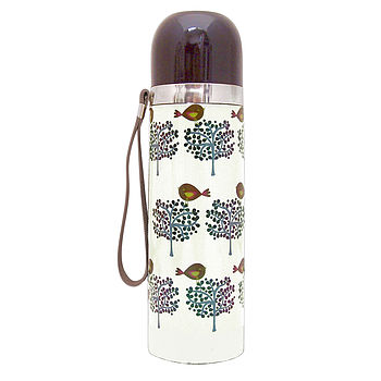 Bird Tree Flask
