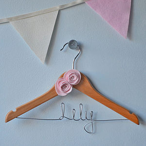 Personalised Girls Hanger - children's room accessories