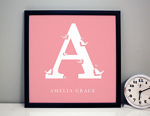 Personalised Girls Initial Print