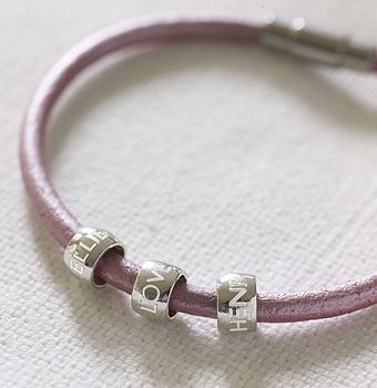 Personalised Women's Leather Bracelet