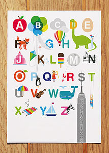 Illustrated Alphabet Postcard - view all sale items
