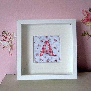 Personalised Framed Fabric Initial