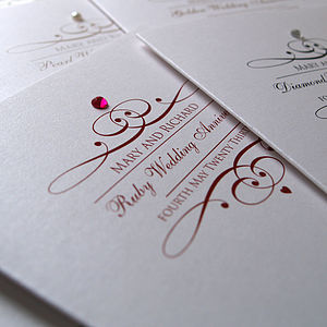 Sparkle Anniversary Invitations - wedding, engagement & anniversary cards