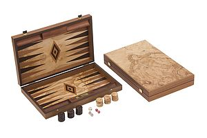 Uber Olive Burl Backgammon Set - traditional toys & games