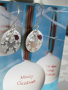 Silver Snowflake Earrings - earrings