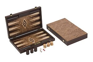 Uber Walnut Burl Backgammon Set - board games & puzzles