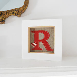 Vintage Style Framed Initial Artwork - decorative accessories