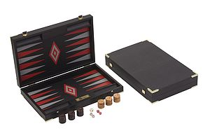 Imitation Crocodile Leather Backgammon Set