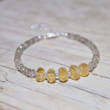 Smokey Quartz And Citrine Bracelet