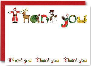 Santa Thank You Notes Pack Of 10