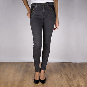 Roberta Skinny Ash Grey Jeans - trousers & shorts