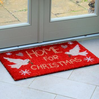 'Home For Christmas' Doormat