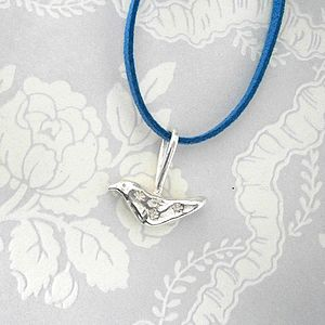Solid Silver Bird Necklace
