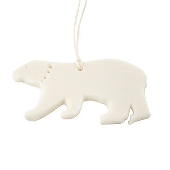 Polar Bear Porcelain Decoration