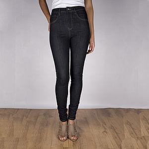 Annie High Waist Blue Skinny Jeans