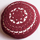 Organic Cotton Crocheted Cushion