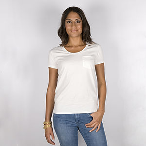 30% Off: Cotton Tee With Pocket