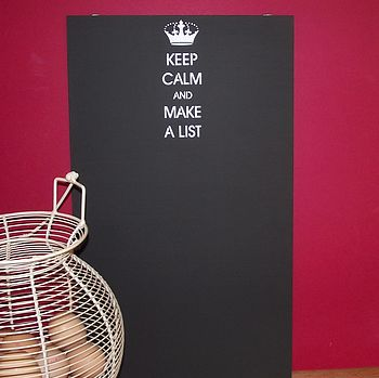 'Keep Calm And Make A List' Chalkboard