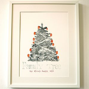 Hand Printed Personalised Christmas Tree