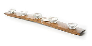 Barrel Stave Tea Light Holder - kitchen