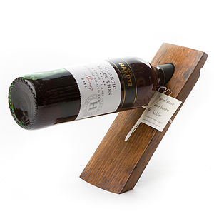 Barrel Stave Balancing Wine Bottle Holder - storage & organisers