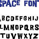 Font for Rocket cushion cover