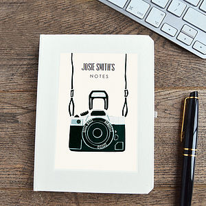 Personalised Camera Notebook - for young men