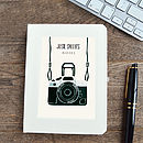 Personalised Camera Notebook