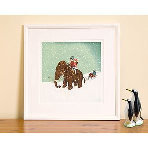 Winter Woolly Mammoth Fine Art Print