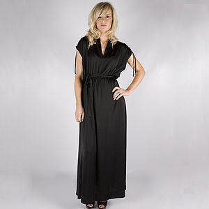 Cher Belted Maxi Dress - dresses