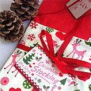 Retro Woodland Christmas Stocking