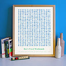 Bespoke Word Search Print