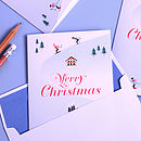 15 Personalised Christmas Ski Slope Cards