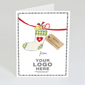 Personalised Business Christmas Stocking Card - shop by category