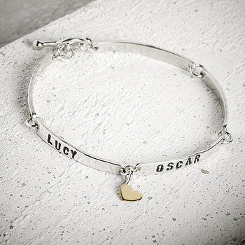 Personalised Silver Tag Bracelet