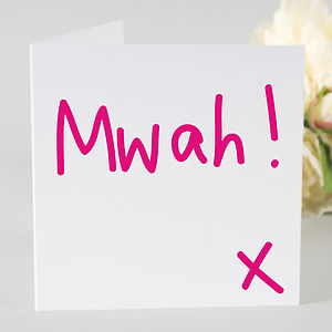 'Mwah!' Card - cards & wrap