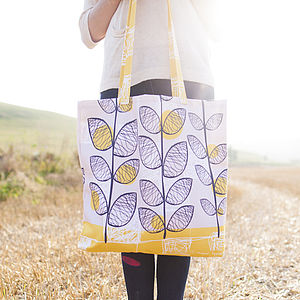 50s Inspired Canvas Shopper Bag - more
