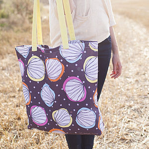 Scribble Shells Canvas Shopper Bag - summer accessories