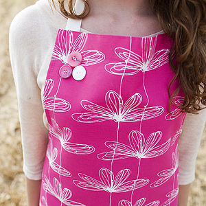 Pink Etched Floral Apron - aprons