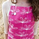Pink Etched Floral Apron