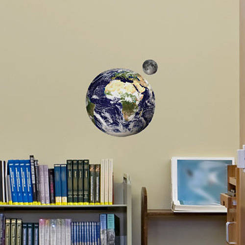 small earth and moon wall stickers by the binary box. Black Bedroom Furniture Sets. Home Design Ideas