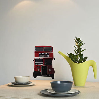 Small British Bus Wall Sticker