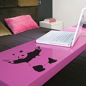 Small Banksy Panda Wall Sticker - office & study