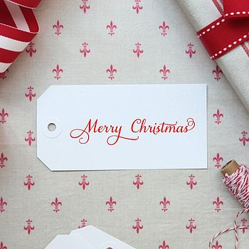 Set Of 25 Merry Christmas Gift Tags