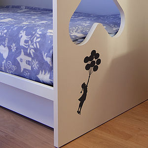 Small Banksy Balloon Floating Wall Sticker - office & study