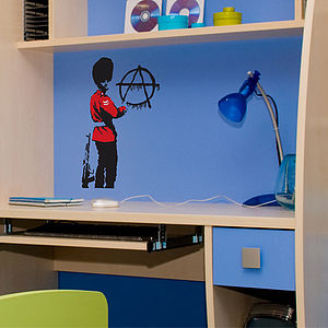 Small Banksy Anarchy Guard Wall Stickers - office & study